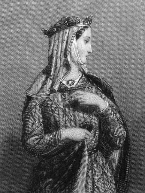 Eleanor of Aquitaine. Medieval Queen. Middle ages costumes