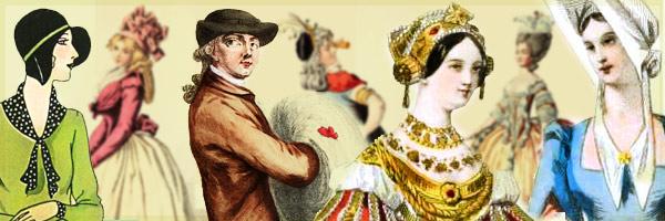 French fashion history. Histoire, mode, modes, costumes historique,