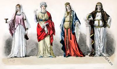 4th century clothing, Roman gauls fashion. Gallic costume. Gallo-Roman, costume history