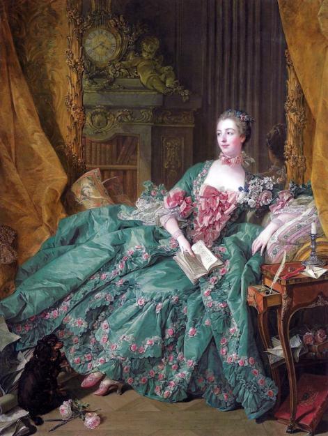 Madame Pompadour. François Boucher. 18th century clothing