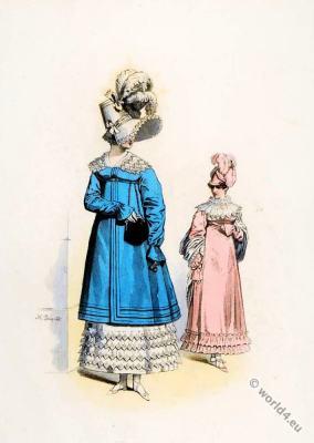 Les Dames de Paris. Horace Vernet. Regency fashion. French first empire costumes. Napoleon I. Napoleonic Empire period.
