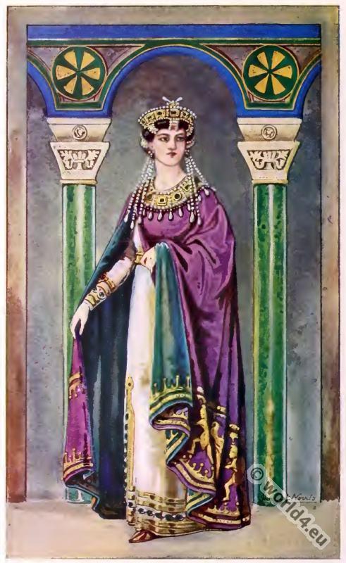 byzantine costume history 5th to 6th century costume