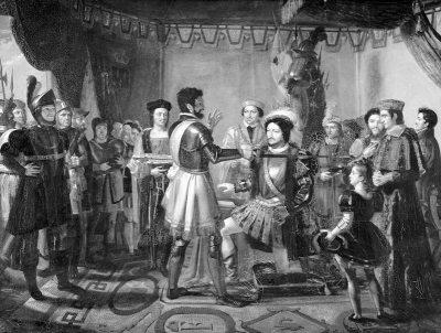 Pierre de Terrail Bayard. Knighted. Francis I. Medieval knights costumes. Henri Buguet.