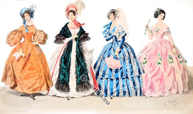 Romantic costumes. Fashion in the Reign of Philippe.