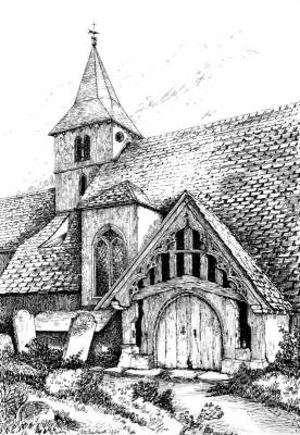 Old Porch, Warblington Church, Hampshire.