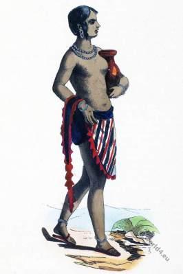 African Sudan, Kano. Historical clothing.