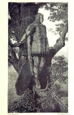Noble Gauloise habit. Ancient gaul clothing.