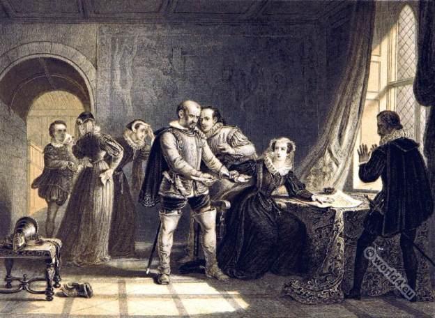 Mary Stuart, Queen of Scots. Tudor Costume.