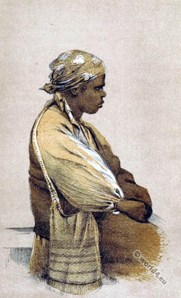 Teenminnie of native Aboriginals Australia. South Australia Tribe.