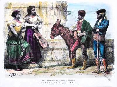Spain Andalusian peasants folk dress