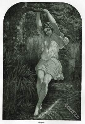 Undine Water Nymph. Friedrich de la Motte Fouqué. Romanticism, Romantic Era, German romantic poet