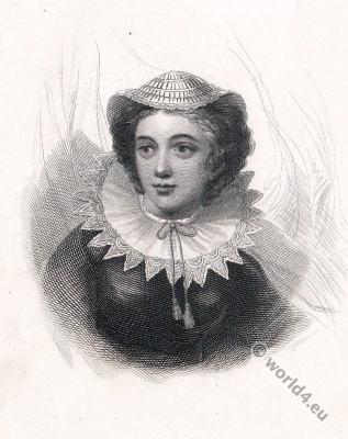 Portrait of Mary Stuart . England Tudor era.