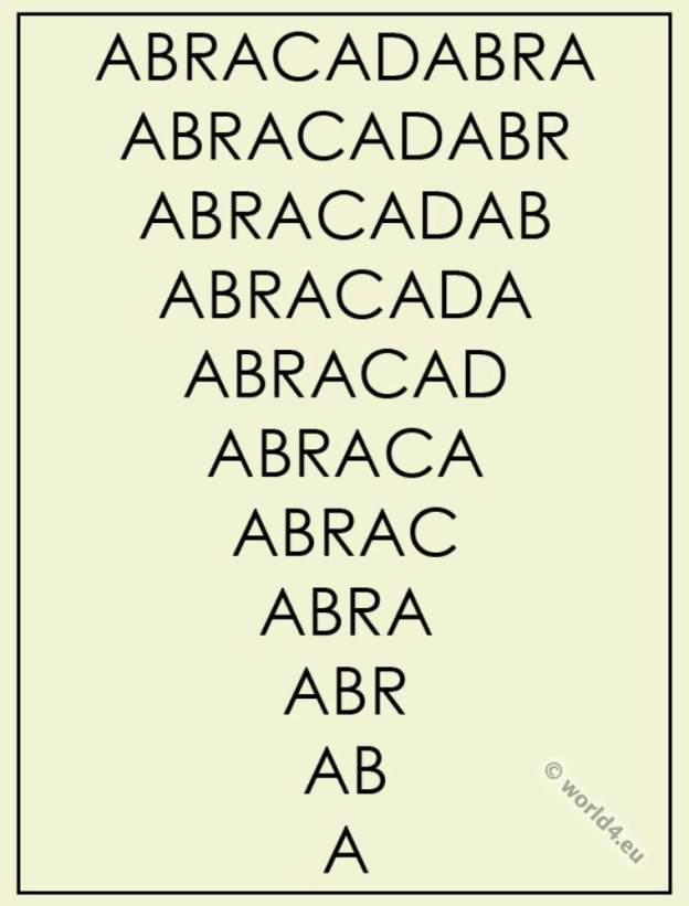 Abracadabra. Magic word.
