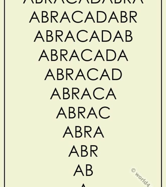 Abracadabra. Magic word.
