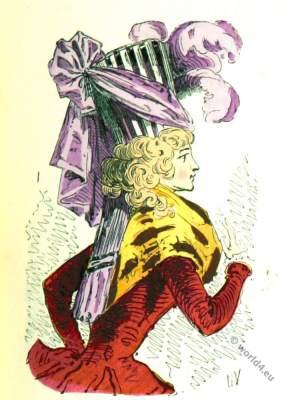 Bonnette Turban. 18th century headdresses. Rococo fashion