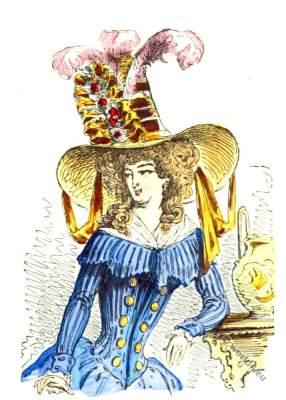 Chapeau à la tartare 1787. Headdress Rococo era.