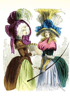 Chapeau, Bateau, Renverse, Rococo, fashion, costume