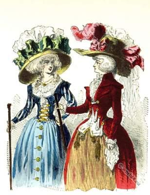 Chapeaux Bonnette. 18th century rococo headdresses.