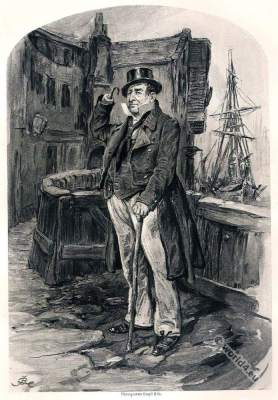 Novel by Charles Dickens. Captain Cuttle. Dombey and Son.