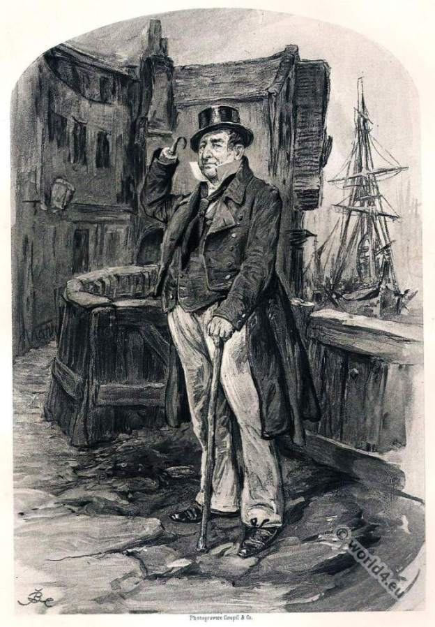 English literature classic. Captain Cuttle. Dombey and Son . Charles Dickens.