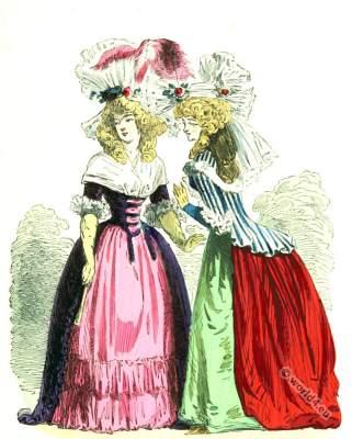 Costumes de femmes Demi-Négligé. 18th century rococo clothing.