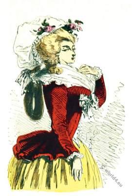 Costume Déshabillé du matin appelé pierrot. 18th century rococo costumes