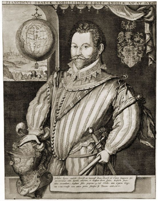 Sir Francis Drake, Tudor,  captain, privateer, slave trader, naval officer, discoverer, renaissance