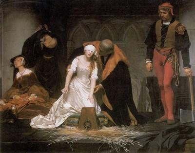 Lady Jane Grey, England, Nine Days Queen, Execution, tudor, fashion, Delaroche