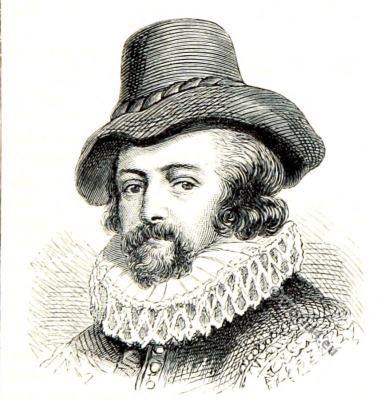 Francis Bacon. English Philosopher, 16th century, Tudor era costume.