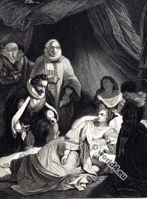 Death Queen Elisabeth I. England history. Tudo, 16th century fashion