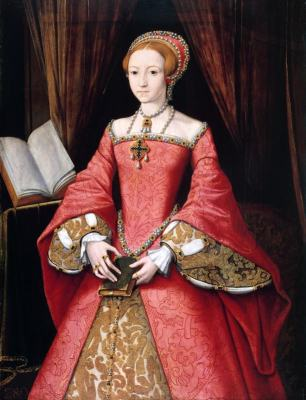 Queen Elizabeth I, Princess. Tudor costumes. 16th century fashion.