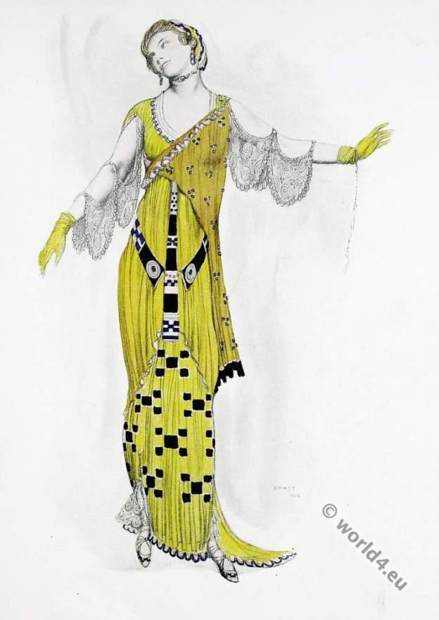 Art deco costume design. Léon Bakst. Mother of Venus