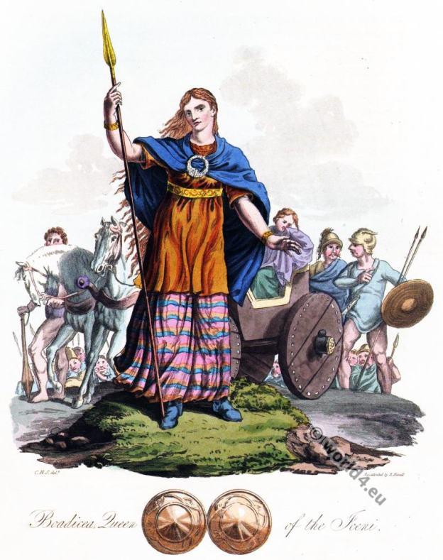 British queen Boudicca, Boadicea, Baudicea, Bodvica, Bonduca
