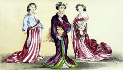 Nagasaki Japan, actors, performance, kimonos