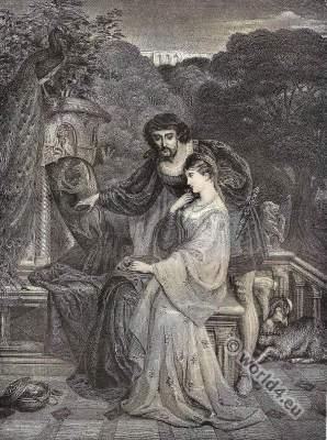 Lancelot, Elaine, Lady Shalott. Alfred Tennyson. Victorian era. Pre-Raphaelite Brotherhood