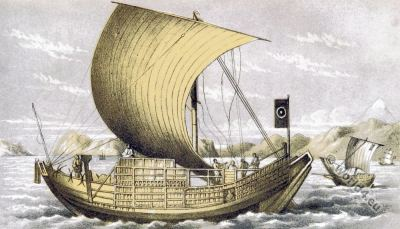 Ancient Japanese sailing ship