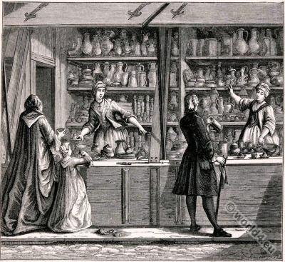 Christoph Kilian, Vendor, Tinware, 18th Century, Baroque fashion.