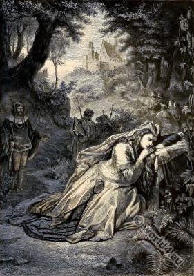 Opera Tannhäuser. Elizabeth, the Landgravine. Richard Wagner. German composer.