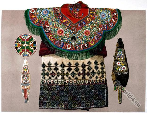 Embroidery, Caucasus, Greece, American Natives.