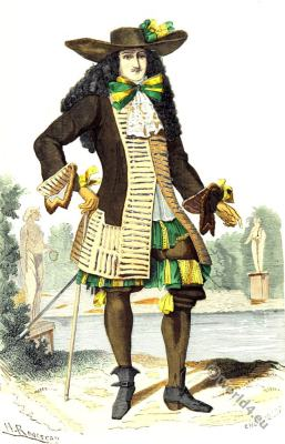 French lord. costume. French Baroque fashion. 17th century costume