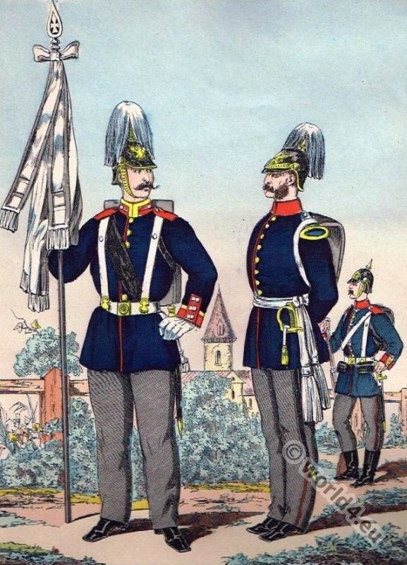 Prussian army officer uniforms.