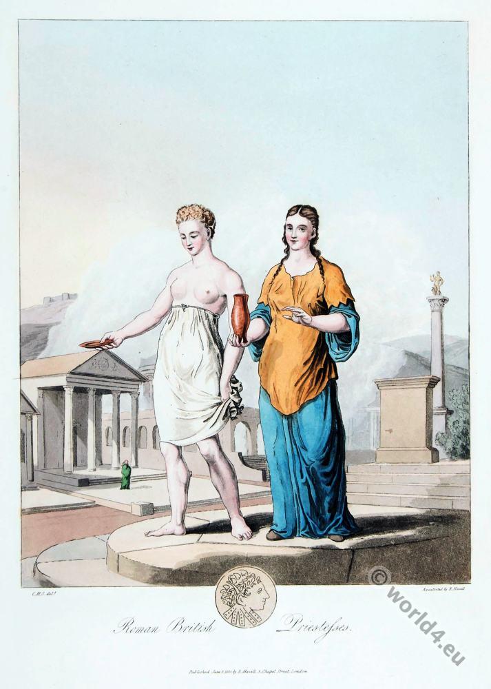 995e8a99ff5 British priestesses. Roman era 3rd century. | Costume & Fashion History