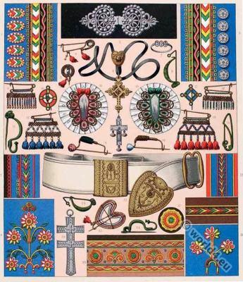 Brittany traditional, embroidery pattern, Breton, folk dress