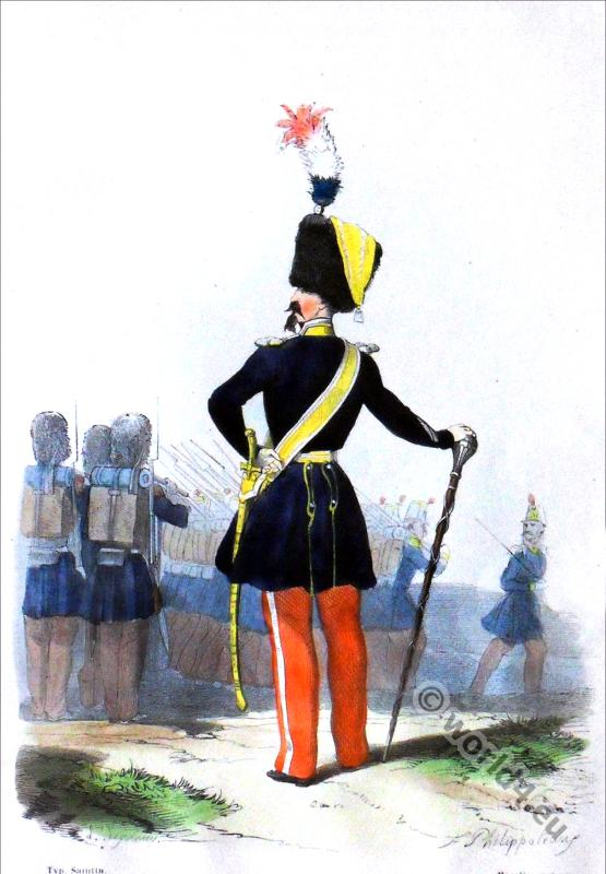 Light infantry. Drum Major. 1850