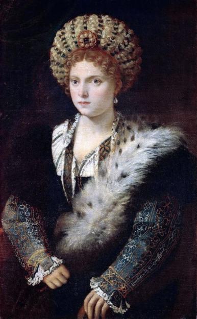Isabella d'Este. Titian. Renaissance portrait. Renaissance fashion. 15th century costume