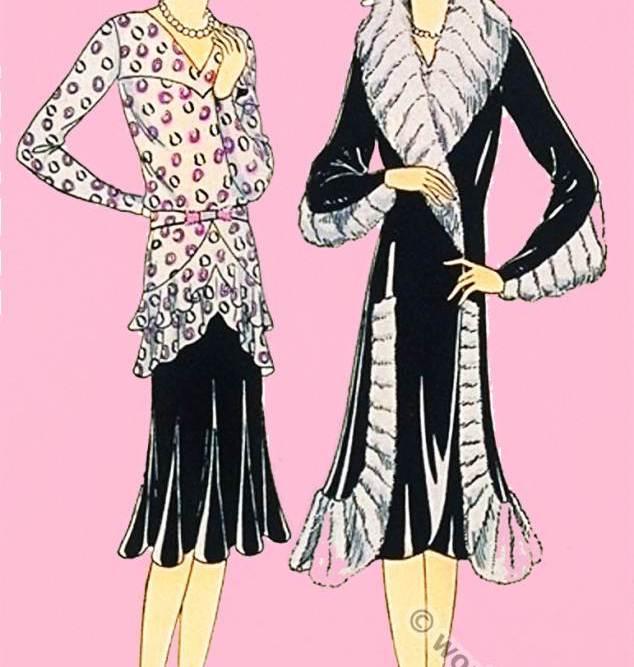 Germaine Lecomte. Haute couture fashion designer. Art deco costume. Flapper fashion