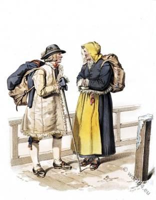 Sweden Leksand. Traditional farmers national costumes. Folk drersses.
