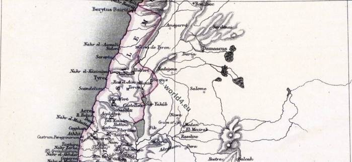 The crusades. Maps and places. 11th to 13th century, Middle ages