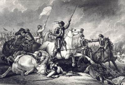 Oliver Cromwell. The Battle of Marston Moor. 17th century history. England civil war.