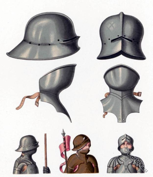 The Schaller. Middle ages helmet. 15th century armor.
